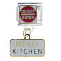 Italian Charms - messy kitchen italian charms dangle italian charm Image.