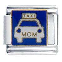 Italian Charms - taxi mom italian charms Image.