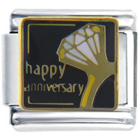 Italian Charms - happy anniversary ring wedding italian charms Image.