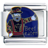 Italian Charms - beefeater london guard travel &  flags italian charm bracelet Image.