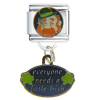 Italian Charms - everyone needs a little irish travel &  flags italian charm bracelet dangle italian charm Image.