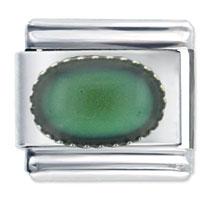 Italian Charms - small mood oval italian charm bracelet Image.