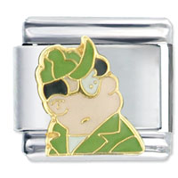 Italian Charms - army beetle bailey plato licensed italian charms Image.