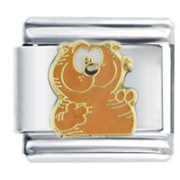Italian Charms - cute orange enamel heathcliff smiling licensed 9 mm italian charms licensed italian charm Image.