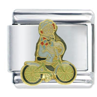 Italian Charms - raggedy ann andy bicycle licensed italian charms Image.