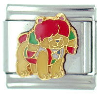 Italian Charms - rainbow brite puppy licensed italian charms Image.