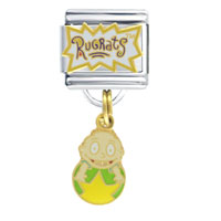 Italian Charms - rugrats logo tommy dangle gift italian charm licensed italian charm Image.