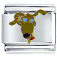 Italian Charms - rugrats spike licensed italian charms Image.