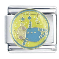Italian Charms - enamel baby mobile infant charm stainless steel italian charm link Image.