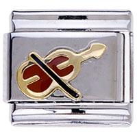 Italian Charms - music theme violin italian charm bracelets gift Image.