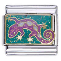 Italian Charms - lizard animal charms 9 mm italian charms for bracelets Image.