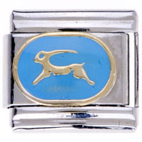 Italian Charms - animal charms fallow blue deer 9 mm italian charms for bracelets Image.