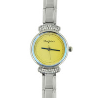 Watches - yellow round austrian crystal watch Image.