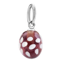 Charms Beads - silberdream amethyst purple waterdrop murano glass dangle european beads fit all brands Image.