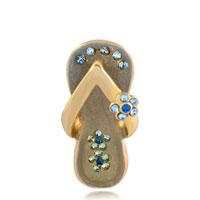 Necklace & Pendants - gray beach sandal aquamarine blue crystal cz necklace pendant Image.