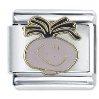 Italian Charms - onion head boy gift italian charm Image.