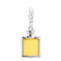 Sterling Silver Jewelry - sterling sliver perfume pale yellowr jewelry lobster clasp pendant charms clasp charm Image.