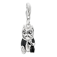 Sterling Silver Jewelry - 925  sterling sliver amore lavita gentleman dog lobster clasp pendant dangle european beads fit all brands Image.