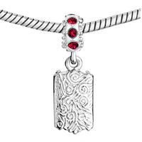 Custom Jewelry - CUSTOM DANGLE RECTANGLE PHOTO FRAME LINK ITALIAN BEADS CHARMS BRACELETS alternate image 2.