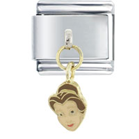 Italian Charms - enamel dangle charming princess 9 mm italian charm stainless steel licensed italian charm Image.