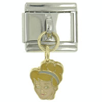 Italian Charms - hot enamel dangle beauriful lady 9 mm italian charm stainless steel licensed italian charm Image.
