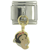 Italian Charms - enamel dangle beautiful princess 9 mm italian charm stainless steel licensed italian charm Image.