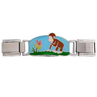 Italian Charms - curious george chasing butterfly deluxe italian charms licensed italian charm Image.