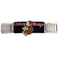 Italian Charms - curious george eating banana deluxe italian charms licensed italian charm Image.