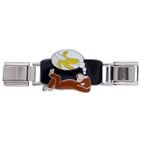 Italian Charms - curious george dreaming about banana deluxe italian charms licensed italian charm Image.