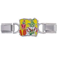 Italian Charms - grinch heart xmas deluxe italian charm bracelet licensed italian charm Image.