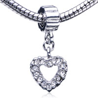 Charms Beads - heart fit all brands dangle european beads charms bracelets Image.