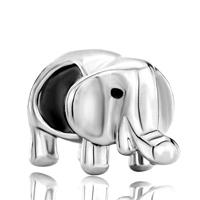 Charms Beads - silver plated elephant charm bracelet european bead charms bracelet Image.