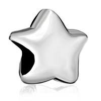 Charms Beads - silver plated star european bead charms infant charms bracelets Image.