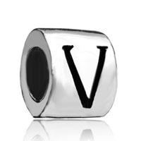Charms Beads - cylindricalshaped letter bracelet charm initial v charm alphabet bead Image.