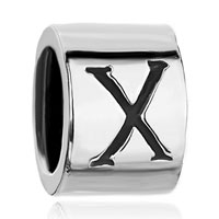 Charms Beads - cylindrical letter bracelet charms initial x charm alphabet beads Image.