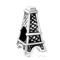 Charms Beads - silver mothers day s eiffel tower european bead charm bracelet Image.