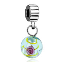 Charms Beads - murano glass green murano glass flower charms bracelets dangle Image.