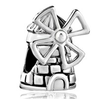 Charms Beads - silver plated netherlands windmill european bead charms bracelets Image.