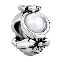 Charms Beads - flower pearl charm bracelet european bead charmcharms bracelet Image.