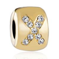 Charms Beads - charm gold crystal celtic claddagh irish cross bracelet charms Image.