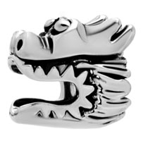 Charms Beads - silver plated european bead charm bracelets chinese dragon european Image.