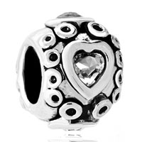 Charms Beads - round shaped happy mouth fit all brands beads charms bracelets Image.