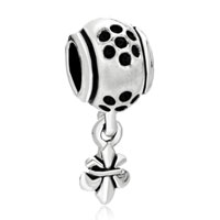 Charms Beads - fleur de lis charm bracelet dangle european bead charmcharm bracelet Image.