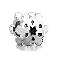 Charms Beads - silver plated snowflake european bead charm infant charm bracelets Image.