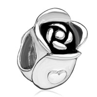 Charms Beads - silver plated rose floral european bead charms charms bracelets Image.