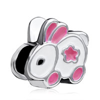 Charms Beads - european bead charms little bunny european bead charms for women Image.