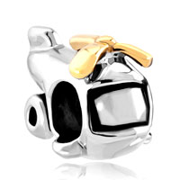 Charms Beads - silver plated cartoon helicopter european bead charms bracelets Image.