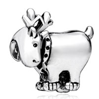 Charms Beads - silver plated deer european bead charm infant charm bracelets charm Image.