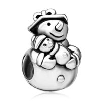 Charms Beads - s snowman european bead charms bracelets fit all brands bracelets Image.
