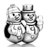Snowman European Bead Charms Bracelets Fit All Brands Bracelets
